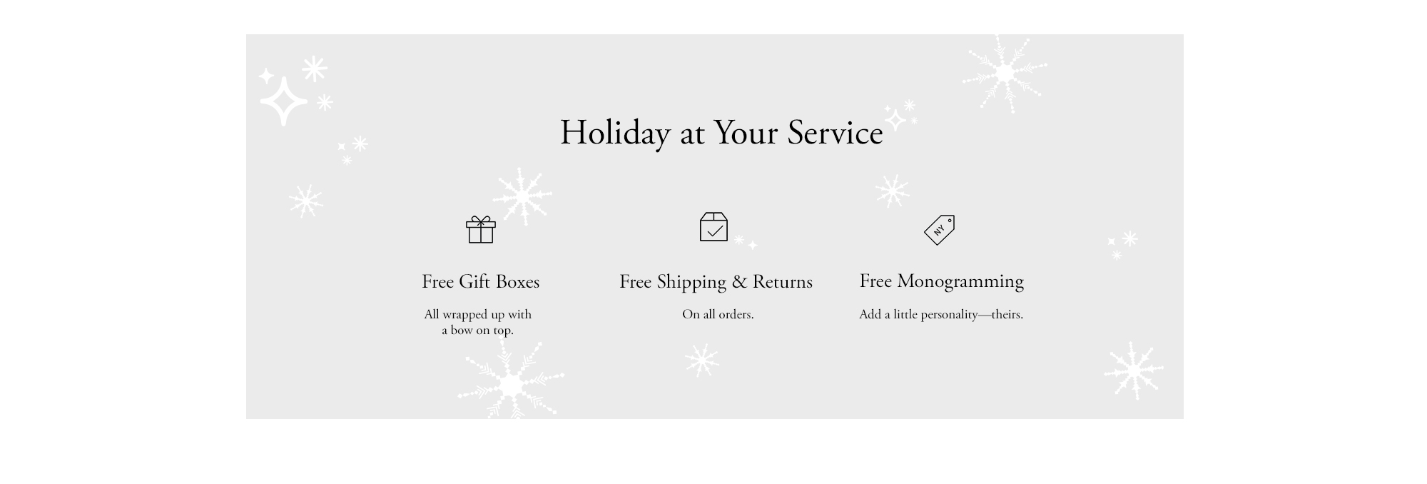 Holiday At Your Service