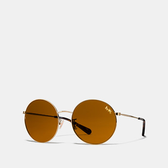 Image of Coach Australia  HORSE AND CARRIAGE ROUND SUNGLASSES
