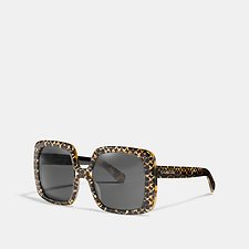 Image of Coach Australia TORTOISE SIGNATURE C EXPRESSION SQUARE SUNGLASSES