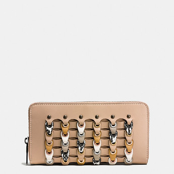 Image of Coach Australia  ACCORDION ZIP WALLET IN EXOTIC COACH LINK LEATHER