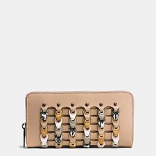 Image of Coach Australia BP/BEECHWOOD MULTI ACCORDION ZIP WALLET IN EXOTIC COACH LINK LEATHER