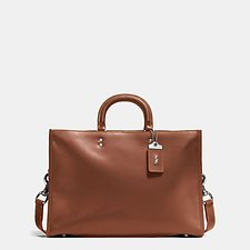 Image of Coach Australia LH/DARK SIENNA ROGUE BRIEF IN NATURAL GLOVETANNED LEATHER