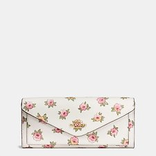 Picture of SOFT WALLET IN FLOWER PATCH PRINT COATED CANVAS