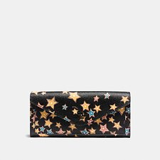 Picture of SOFT WALLET IN STARLIGHT PRINT COATED CANVAS