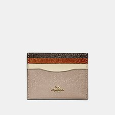 Image of Coach Australia B4PTL FLAT CARD CASE IN COLORBLOCK LEATHER