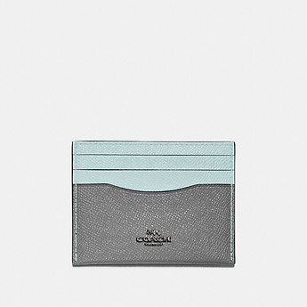 Image of Coach Australia  FLAT CARD CASE IN COLORBLOCK LEATHER