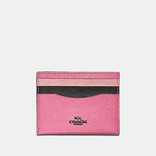Picture of FLAT CARD CASE IN COLORBLOCK LEATHER