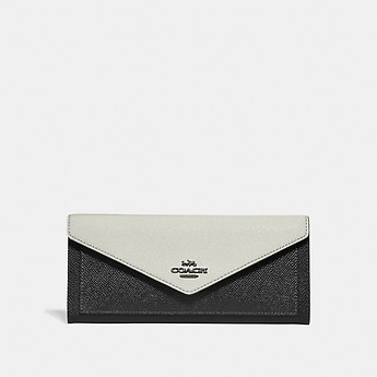 Image of Coach Australia  SOFT WALLET IN COLORBLOCK LEATHER
