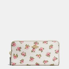 Picture of ACCORDION ZIP WALLET IN FLOWER PATCH PRINT COATED CANVAS
