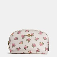 Picture of COSMETIC CASE 17 IN FLORAL PATCH PRINT COATED CANVAS