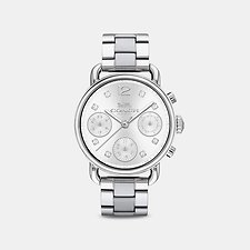 Image of Coach Australia STAINLESS STEEL DELANCEY SPORT 36MM STAINLESS STEEL BRACELET WATCH