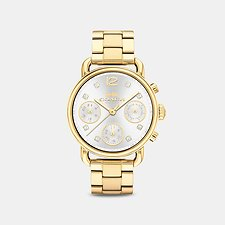 Image of Coach Australia GOLD DELANCEY SPORT 36MM GOLD BRACELET WATCH