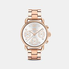 Image of Coach Australia ROSEGOLD DELANCEY SPORT 36MM ROSE GOLD BRACELET WATCH