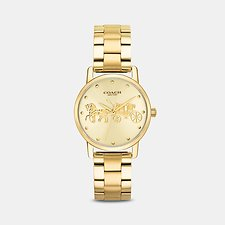 Image of Coach Australia GOLD GRAND 28MM GOLD BRACELET WATCH
