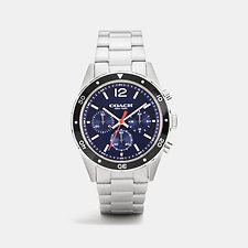 Image of Coach Australia 1 SULLIVAN SPORT STAINLESS STEEL CHRONO BRACELET WATCH