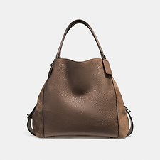 Image of Coach Australia DK/TOBACCO EDIE SHOUDLER BAG 42 IN MIXED LEATHERS