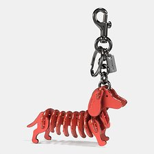 Image of Coach Australia BK/METALLIC BRICK SMALL DOG PUZZLE BAG CHARM