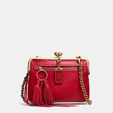 Picture of KISSLOCK CROSSBODY IN GLOVETANNED LEATHER WITH COLORBLOCK HORSE PRINT