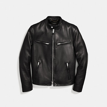 Image of Coach Australia  LEATHER RACER JACKET