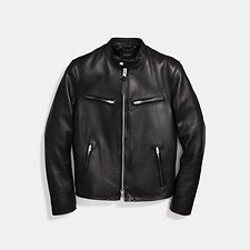 Image of Coach Australia BLACK LEATHER RACER JACKET