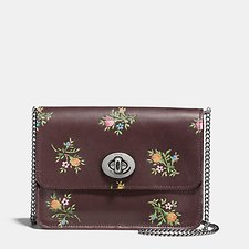 Picture of BOWERY CROSSBODY WITH CROSS STITCH FLORAL PRINT AND GLITTER
