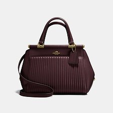 Image of Coach Australia LI/OXBLOOD GRACE BAG WITH QUILTING