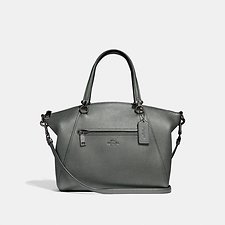 Image of Coach Australia GM/METALLIC GRAPHITE PRAIRIE SATCHEL