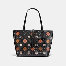 Image of Coach Australia BP/BLACK MARKET TOTE WITH PRAIRIE RIVETS