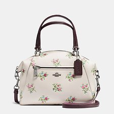 Picture of PRAIRIE SATCHEL WITH CROSS STITCH FLORAL PRINT
