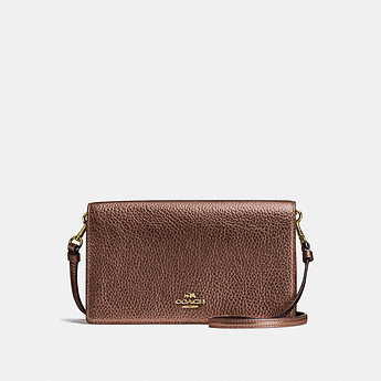 Image of Coach Australia  FOLDOVER CROSSBODY CLUTCH