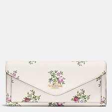 Picture of SOFT WALLET WITH CROSS STITCH FLORAL PRINT