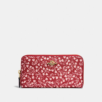 Image of Coach Australia  ACCORDION ZIP WALLET WITH LOVE LEAF PRINT