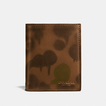 Image of Coach Australia  SLIM COIN WALLET WITH WILD BEAST PRINT