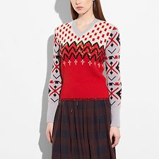 Picture of JACQUARD V-NECK SWEATER