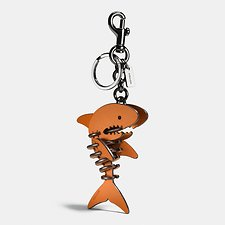 Image of Coach Australia BK/GIFTING ORANGE SMALL SHARKY PUZZLE BAG CHARM