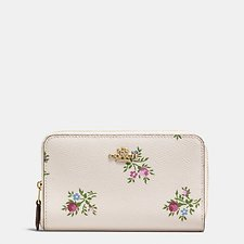 Picture of MEDIUM ZIP AROUND WALLET WITH CROSS STITCH FLORAL PRINT