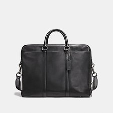 Image of Coach Australia QB/BLACK METROPOLITAN DOUBLE ZIP BUSINESS CASE