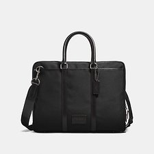 Image of Coach Australia QB/BLACK/BLACK METROPOLITAN SLIM BRIEF