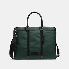 Image of Coach Australia QB/RACING GREEN/BLACK METROPOLITAN SLIM BRIEF