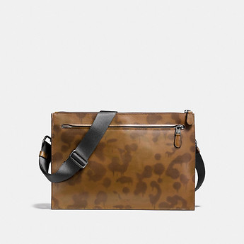 Image of Coach Australia  MANHATTAN CONVERTIBLE SLIM MESSENGER WITH WILD BEAST PRINT