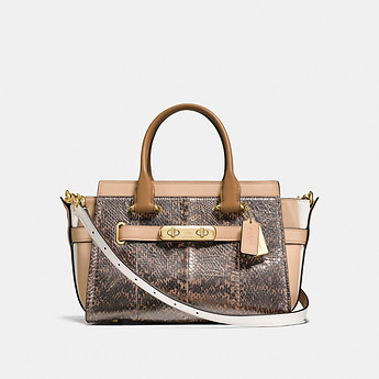 Image of Coach Australia  COACH SWAGGER 27 IN PEARLIZED SNAKESKIN