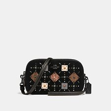 Picture of CROSSBODY CLUTCH WITH PRAIRIE RIVETS AND SNAKESKIN DETAIL