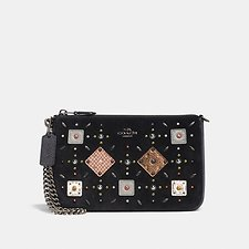 Picture of NOLITA WRISTLET 22 WITH PRAIRIE RIVETS AND SNAKESKIN DETAIL