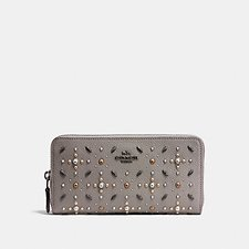 Picture of ACCORDION ZIP WALLET WITH PRAIRIE RIVETS
