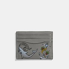 Image of Coach Australia HEATHER GREY CARD CASE WITH TATTOO