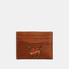 Image of Coach Australia SADDLE CARD CASE WITH TATTOO