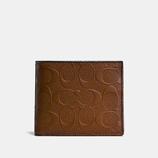 Image of Coach Australia SADDLE 3-IN-1 WALLET IN SIGNATURE LEATHER