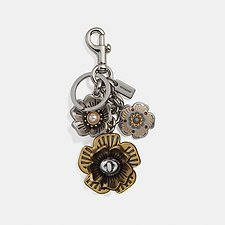 Image of Coach Australia SV/MULTI TEA ROSE MULTI BAG CHARM
