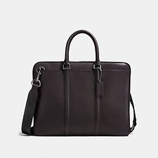 Image of Coach Australia QB/CHESTNUT METROPOLITAN SLIM BRIEF