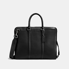 Image of Coach Australia QB/BLACK METROPOLITAN SLIM BRIEF